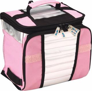 Bolsa Térmica Ice Cooler Necessaire 7,5 Litros Rosa - Mor