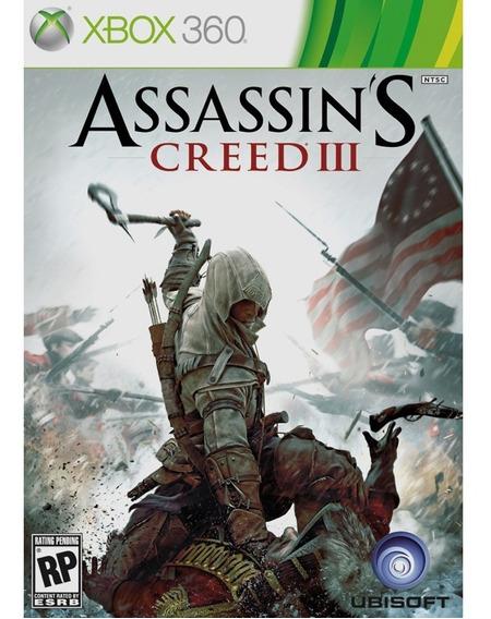 Assassins Creed Iii Xbox 360   Mídia Física Original