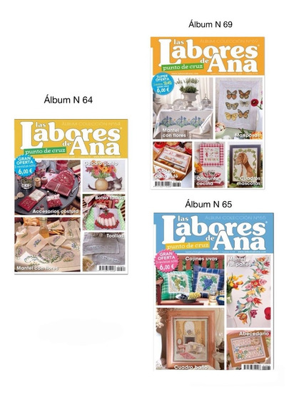 Kit 9 Revistas Ponto Cruz Bordado Labores De Ana Importadas
