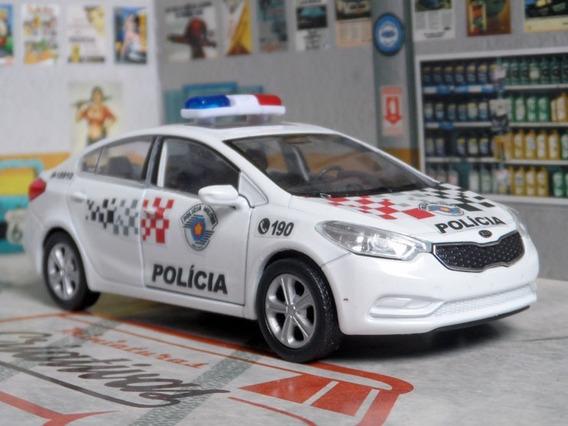 Miniatura Kia Sedan Polícia Militar Pm Sp - Atual