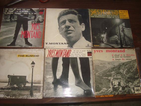Yves Montand, Lote 19 Compactos 45 Rpm, Material De Coleção
