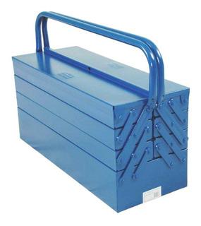 Caixa De Ferramentas Sanfonada Azul 7 Gavetas Fercar Maleta