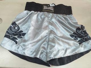 Shorts Calção De Luta Muay Thai Tamanho G - Cetim- Rudel