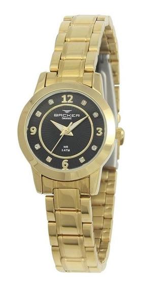 Relógio Feminino Backer Analógico 10219145f - Dourado