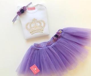 Disfraz Princesa Corona Bebe Con Body