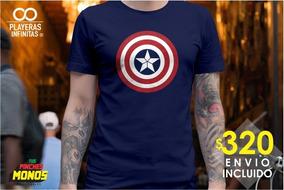 Playera Avengers Endgame - Escudo Capitán América