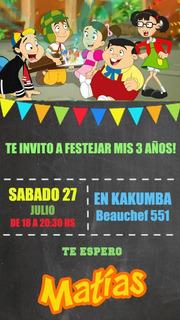 Tarjetas Invitacion El Chavo Del Ocho Epvendedor En Mercado
