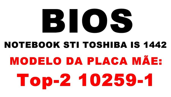 Bios Notebook Toshiba Is 1442
