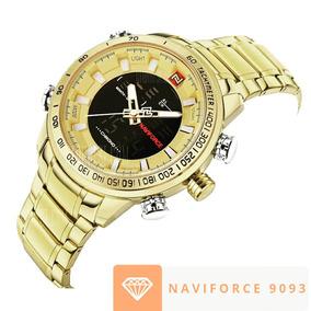 Relógio Masculino Original Naviforce 9093 Dourado