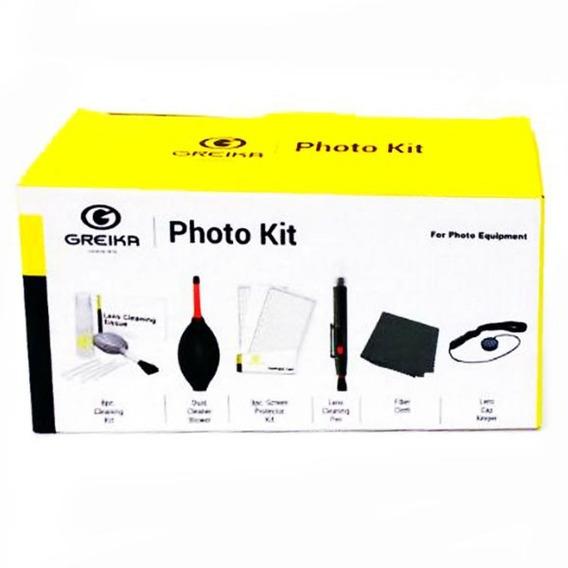 Kit Limpeza Greika Woa2048 Câmera Lente E Eletrônicos 8 Pçs