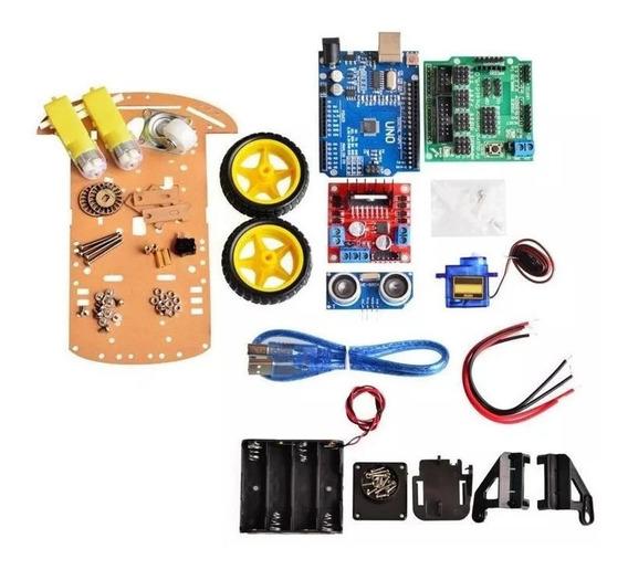 Chassi Carro Smart 2wd Inteligente Robotico Completo Arduino