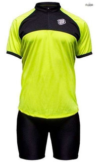 Conjunto Asw Bermuda E Camisa Lazer Amarelo Fluor E Preto 18