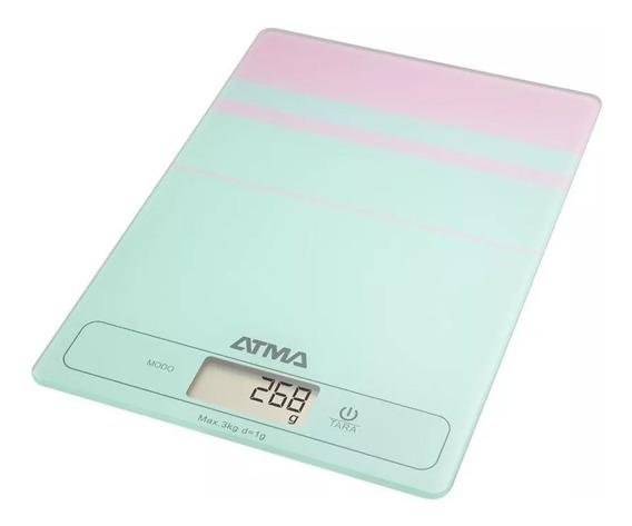 Balanza De Cocina Digital Atma Bc7204n 3kg Vidrio Templado
