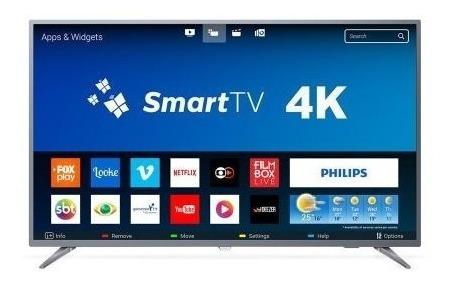 Tv 55p Philips Led Smart 4k Usb Hdmi 55pug6513