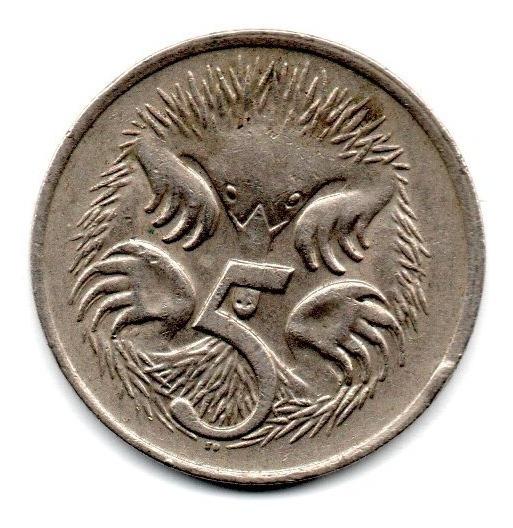 Australia Moneda 5 Cents Año 1976 Km#64