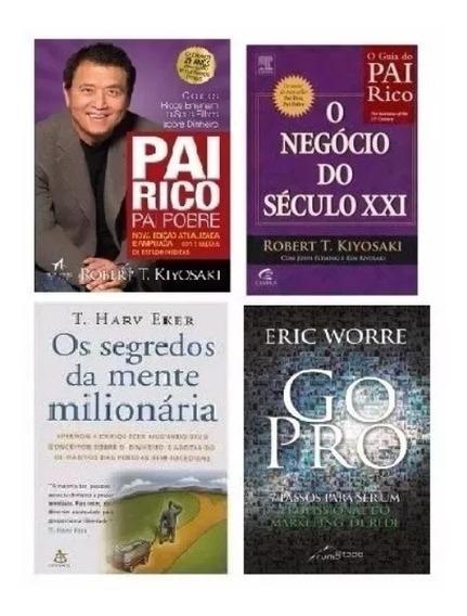 Kit: Go Pro+segredos Da Mente+seculo Xxi+ Pai Rico -4 Livros