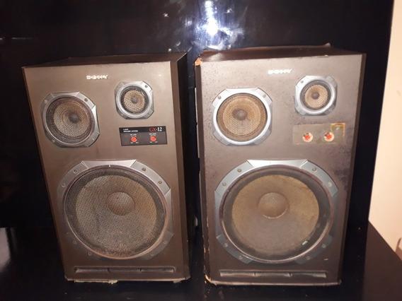 Antigas Som Par Caixas Acústicas Sony Gx-12 Ñ Gradiente Poly