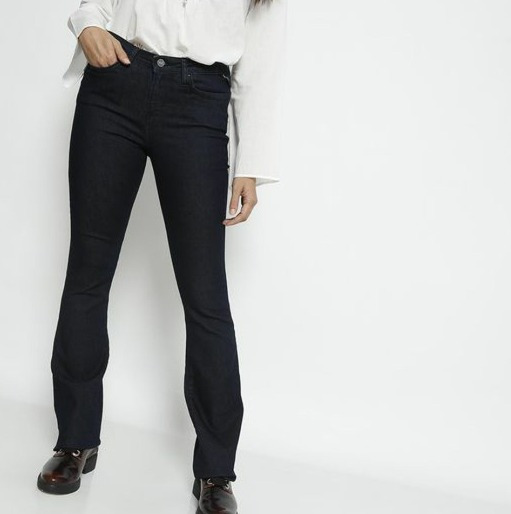 Jeans Flare Barato/promoção Com Bolsos - Replay - 38