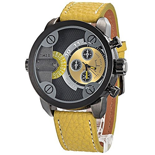 Relojes De Pulserareloj Oulm 3130 Amarillo..