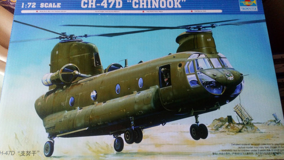 Maqueta A Escala 1/72 Trumpeter Ch47d Chinook