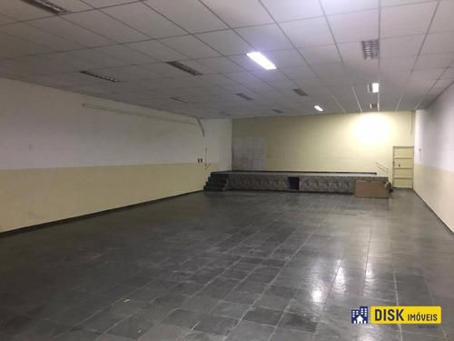 Galpão Para Alugar, 300 M² Por R$ 8.000,00/mês - Vila Olga - São Bernardo Do Campo/sp - Ga0040