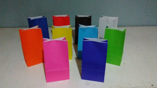 Bolsa De Papel Color Sin Manija (24x12x7) X 50 Unidades