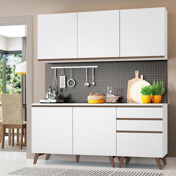 Cozinha Compacta Madesa Reims 5 Portas 3 Gavetas
