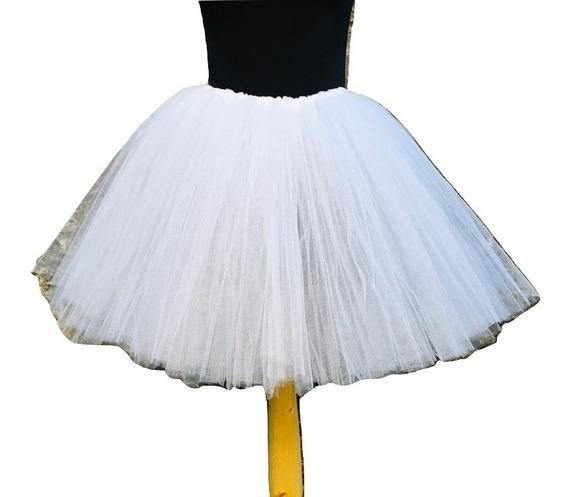 Tutu Disfraz Novia Con Vincha /tul +colores