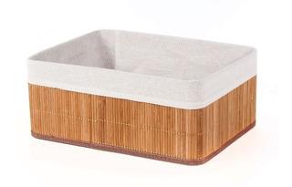 Setx3 Caja Canasto Cesto Bambu Organizador Ropa Baño Grande