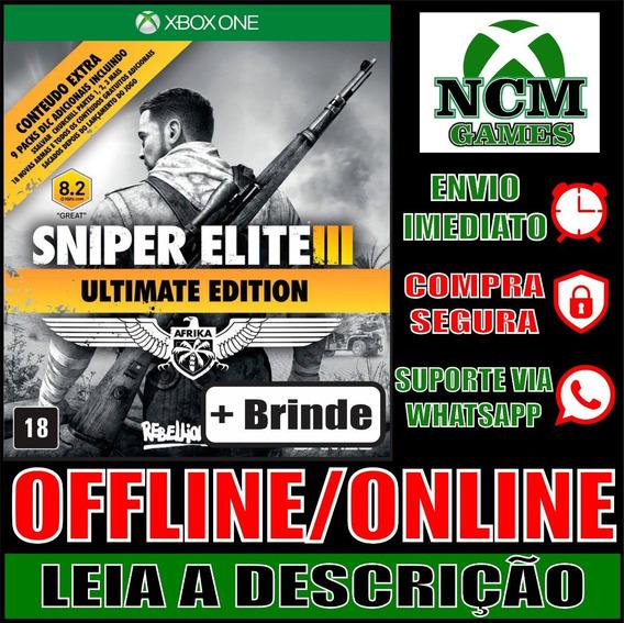 Sniper Elite 3 E Ultimate Xbox One Offline/ Online + Brinde