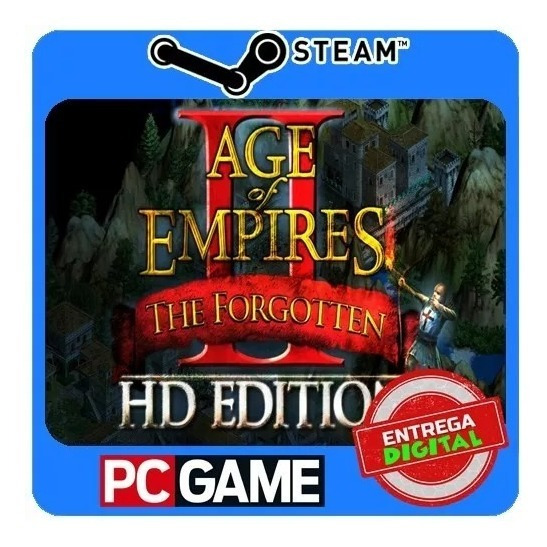 Age Of Empires 2 Hd + Forgoten Original Pt-br Steam Key Pc