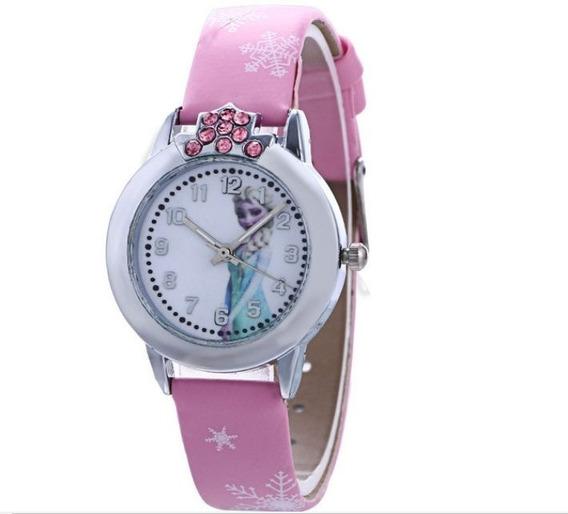 Relógio Frozen Princesa Anna E Elsa Moda Menina Criança