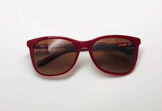 Oculos Solar Feminino Vermelho Cor Marcante Promoção Lança..