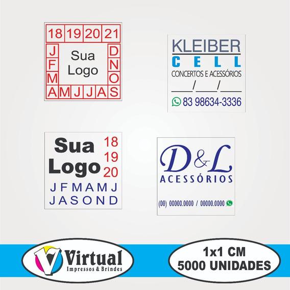 5.000 Lacres De Garantia 1x1 Cm - Adesivo Casca De Ovo