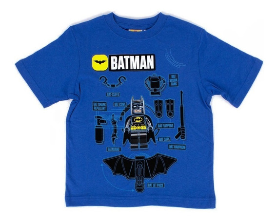 Playera Para Niño Lego Estampado Batman Con Bati Accesorios
