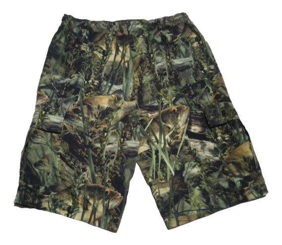 Pantalon Corto Camuflado Pesca Talle M