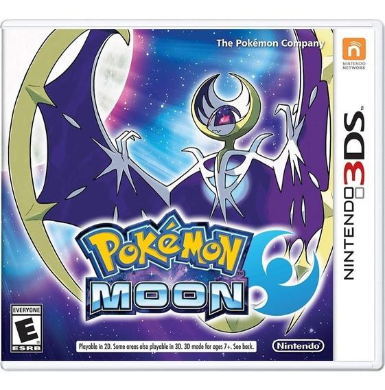 Pokémon Moon Nintendo 3ds 2ds Mídia Fisica Novo Lacrado