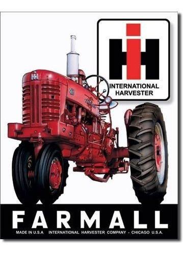 Imagen 1 de 1 de Cartel De Estaño Farmall 400  Placa De Metal 125 W X 16 H