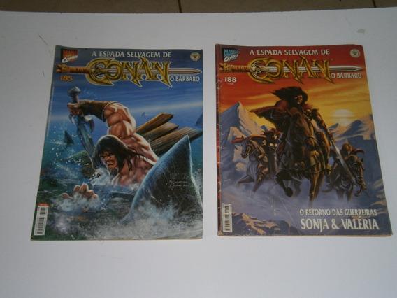 Conan - A Espada Selvagem Nºs 185 E 188 Raros E Antigos
