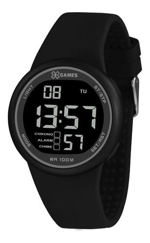 Relógio X-games Masculino Digital Xmppd618 Preto Negativo