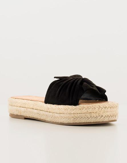 Sandalias Anudada Negras