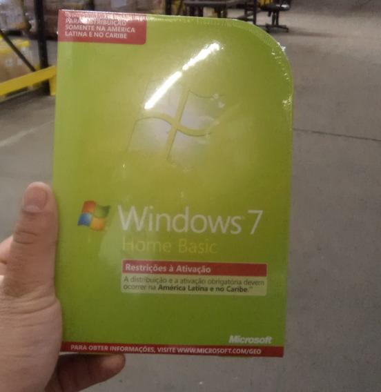 Kit 3 Unid.windows 7 Home Basic Cd Na Caixa-original Lacrado