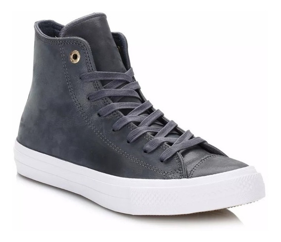 Botitas Converse All Star 2 Azul Cuero Brillo Ultimo Par 41