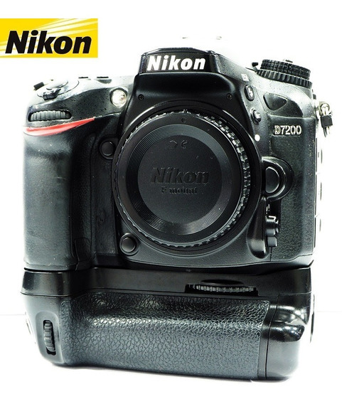 Câmera Nikon D7200 24mp Vídeo Full Hd C/ Vertical Grip