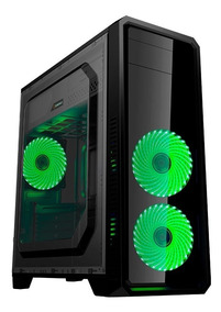 Gabinete Gamemax Eco G561f 3 Fan 32-led Verde