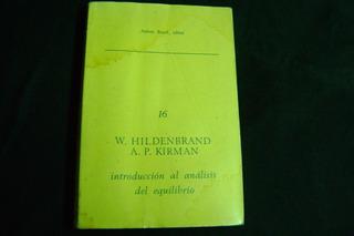 Introducción Al Análisis Del Equilibrio / Hildenbrand-kirman