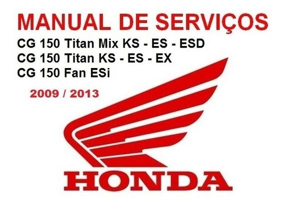 Manual De Serviços - Cg 150 Titan Mix - Fan 2009-2013 - Pdf