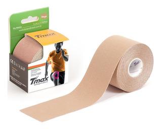 Bandagem Kinesio Elástica Funcional Adesiva Tmax Cor Bege