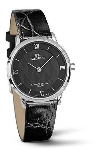 Reloj Seculus 1610.1.106 Lb Ss Br Para Dama Correa De Piel
