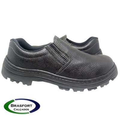 Sapato Elastico Segurança Couro Bico Pvc E Ca (5 Pares)